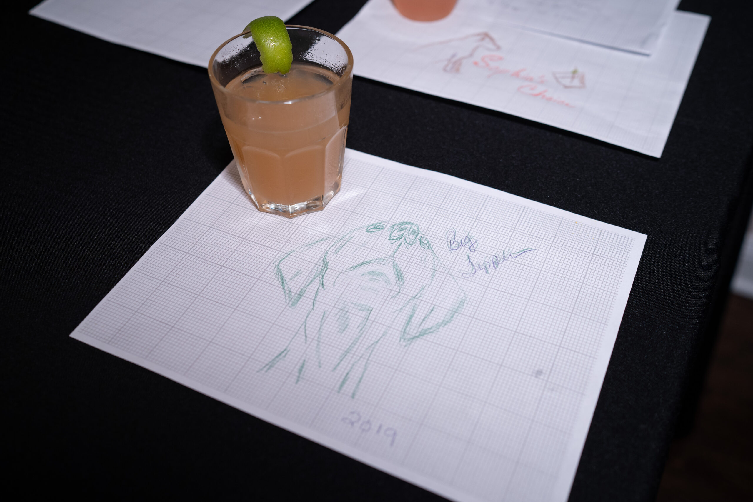 The drinks are submitted for judging